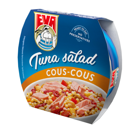 Tuniakový šalát s kuskusom