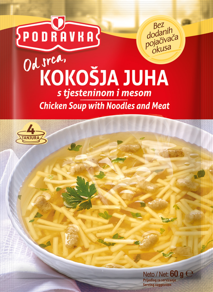 Kokošja juha s tjesteninom i mesom