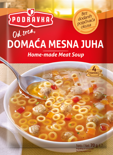 Homemade meat soup