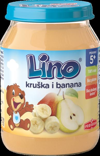 Lino kašica hruška in banana