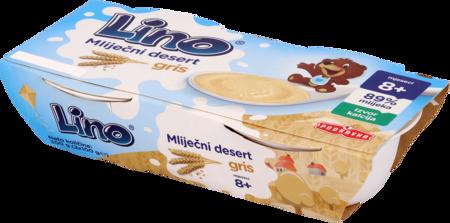 Lino mlečni desert pšenični zdrob