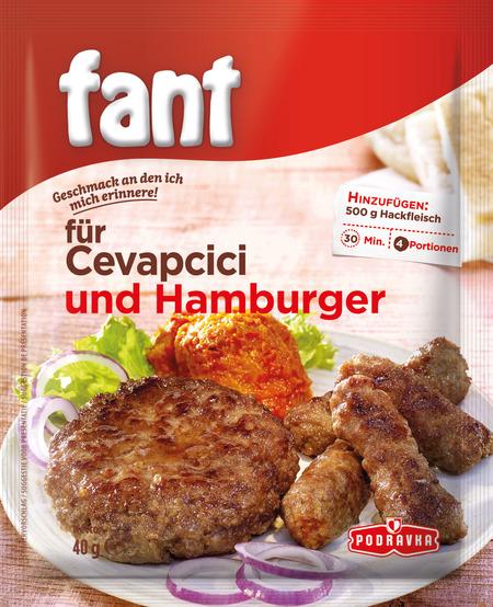 Fant für Cevapcici und Hamburger