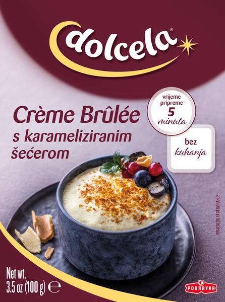Creme brulee s karameliziranim sladkorjem