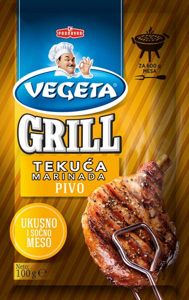 Vegeta marinade with beer