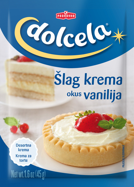 Šlag krema z okusom vanilje