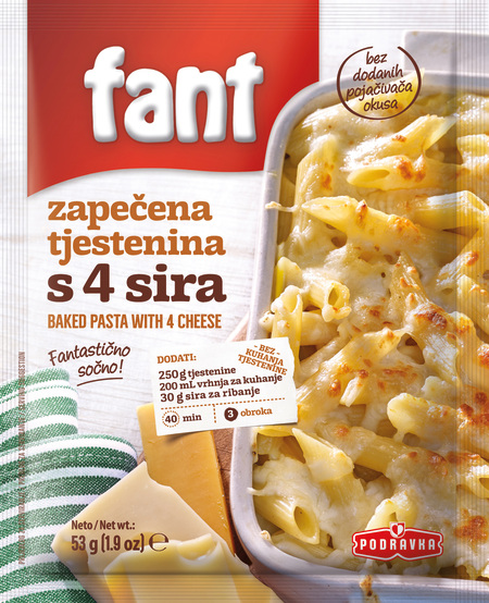 Fant seasoning mix for baked pasta with 4 cheese