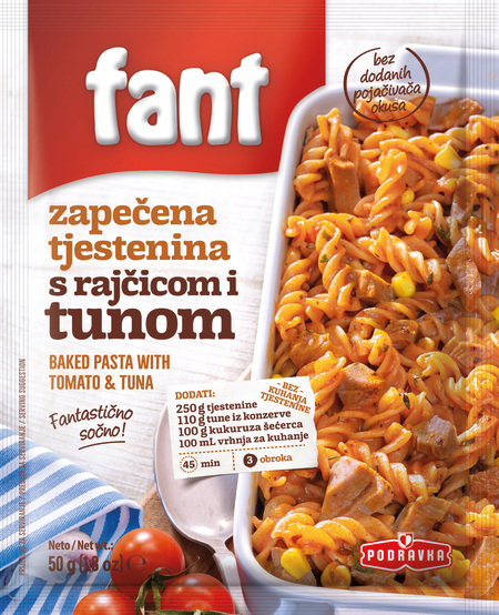 Fant seasoning mix for Baked Pasta with tomato and tuna