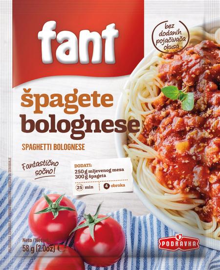 Fant seasoning mix for spaghetti bolognese