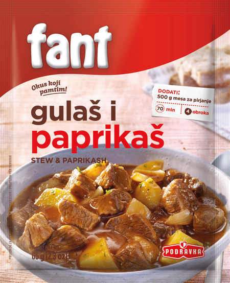 Fant seasoning mix for stews and paprikash