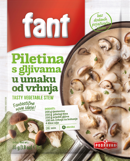 Fant seasoning mix for chicken with mushrooms in cream sauce