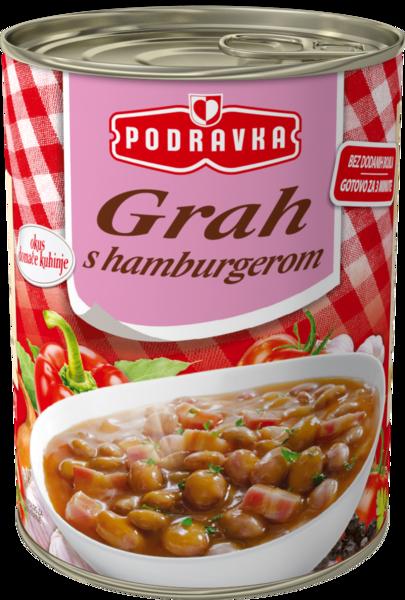 Beans with hamburger